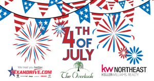 4th of July at the Overlook – Tuesday from 6pm – 10pm.